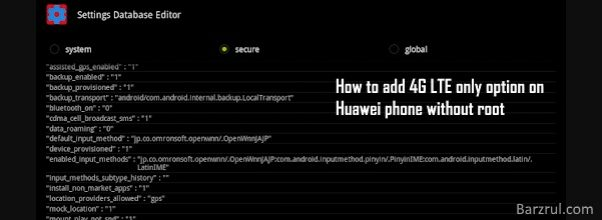 How to add 4G LTE Only option on Huawei phone without root